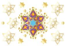 Ornamento oriental festivo stock de ilustración
