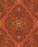 Ornamento oriental rojo stock de ilustración