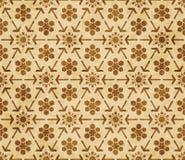 Ornamento orientale di stile del retro di Islam della geometria fondo senza cuciture marrone del modello illustrazione vettoriale
