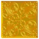 Ornamento orientale dorato priorità bassa 3d Fotografia Stock Libera da Diritti