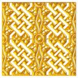 Ornamento orientale dorato priorità bassa 3d Immagine Stock
