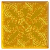 Ornamento orientale dorato priorità bassa 3d Fotografia Stock