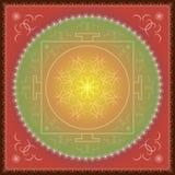 Ornamento orientale indiano della mandala illustrazione vettoriale
