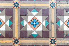 Ornamento orientale sul pavimento fotografia stock