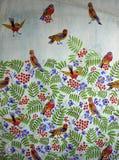 Ornamento original de la tela de materia textil del serbal y del pájaro libre illustration