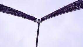 Ornamento púrpura de la calle por la Navidad y el Año Nuevo Fotografía de archivo