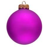 Ornamento púrpura de la Navidad. Fotografía de archivo