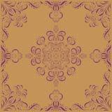 Ornamento púrpura en fondo beige libre illustration