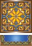 Ornamento para la alfombra azul. Pattern.Illustration. Fotos de archivo