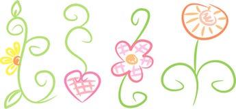 ornamento Cor pastel-coloridos da flor fotografia de stock