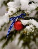 Ornamento patriótico de la Navidad Fotografía de archivo libre de regalías
