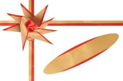 Ornamento per un regalo da una fascia. Immagini Stock