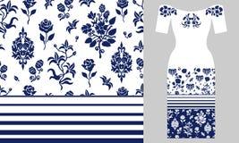 Ornamento persiano stilizzato Progettazione dell'abito da sera Fotografia Stock Libera da Diritti