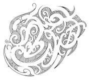 Ornamento polinesio con los elementos étnicos ilustración del vector