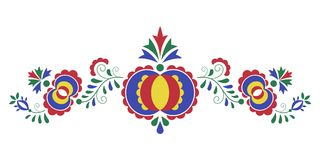 Ornamento popular tradicional, el ornamento de Moravian Fotografía de archivo libre de regalías