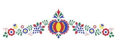Ornamento popular tradicional, el ornamento de Moravian Imágenes de archivo libres de regalías