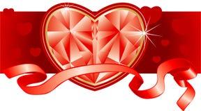 Ornamento por el día de tarjeta del día de San Valentín del St. Fotos de archivo libres de regalías