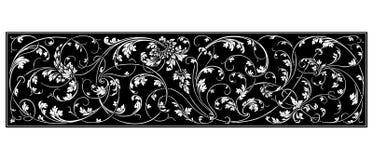 Ornamento preto Imagem de Stock Royalty Free