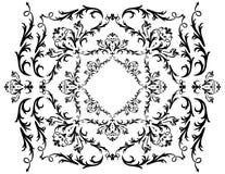Ornamento preto abstrato Fotos de Stock Royalty Free