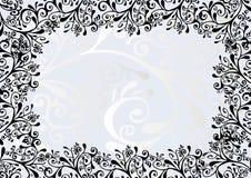 Ornamento preto e azul Fotografia de Stock Royalty Free