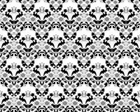 Ornamento preto e cinzento sem emenda abstrato Fotografia de Stock Royalty Free