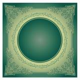 Ornamento radial do vintage com fundo Imagens de Stock