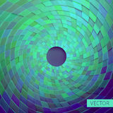 Ornamento radial Grade angular das caixas 3d Teste padrão circular ilustração stock