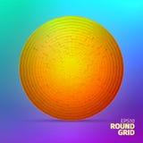Ornamento radiale Griglia angolare delle scatole 3d elemento del cerchio royalty illustrazione gratis