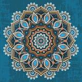 Ornamento redondo étnico abstracto stock de ilustración