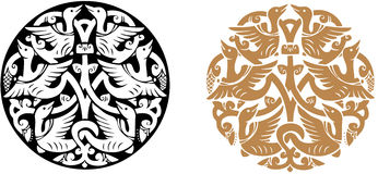 Ornamento redondo Imagens de Stock Royalty Free