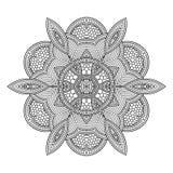 Ornamento redondo abstracto Modelo de la mandala del círculo Foto de archivo