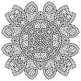 Ornamento redondo abstracto Modelo de la mandala del círculo Imagen de archivo