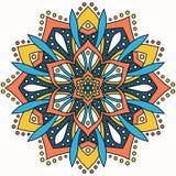 Ornamento redondo abstracto Modelo de la mandala del círculo Imagenes de archivo