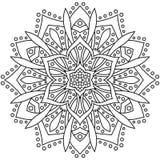Ornamento redondo abstracto Modelo de la mandala del círculo Fotos de archivo