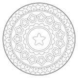 Ornamento redondo da estrela da coloração Foto de Stock