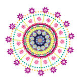 Ornamento redondo da flor Foto de Stock