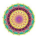 Ornamento redondo da flor Imagens de Stock Royalty Free