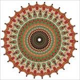 Ornamento redondo de Brown Imagem de Stock Royalty Free