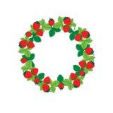 Ornamento redondo de la fresa Vector Foto de archivo libre de regalías