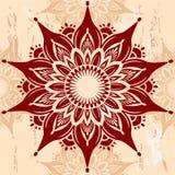 Ornamento redondo de la mandala Fotografía de archivo