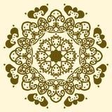 Ornamento redondo de las volutas del color del arte abstracto - vector el ejemplo Fotografía de archivo