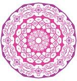 Ornamento redondo del cordón aislado en blanco Imagen de archivo libre de regalías