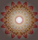 Ornamento redondo del follaje de la flora Foto de archivo