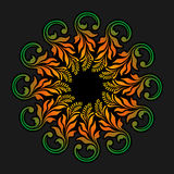 Ornamento redondo del vector Imagen de archivo