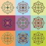 Ornamento redondo del vector Elemento del círculo de la flor Fotografía de archivo