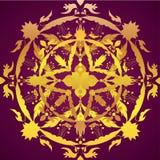 Ornamento redondo Elemento del círculo de la flor Vintag dibujado mano Fotos de archivo