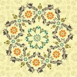 Ornamento redondo floral ilustración del vector