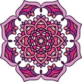 Ornamento redondo geométrico de la mandala, modelo abstracto circular Elemento decorativo dibujado mano del diseño del vector Foto de archivo libre de regalías