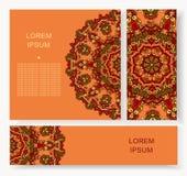 Ornamento redondo geométrico de la mandala, modelo abstracto circular Elemento decorativo dibujado mano del diseño del vector Fotos de archivo
