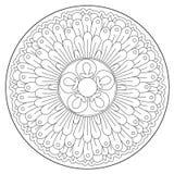 Ornamento redondo hermoso que colorea stock de ilustración